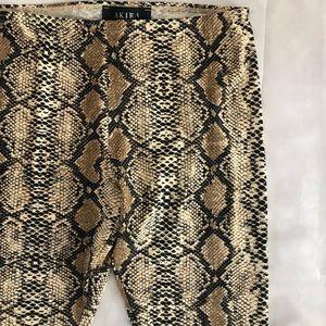 AKIRA Pants - AKITA Snakeskin Leggings - Size M (NEW)